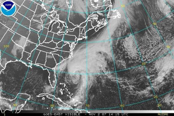 Figura 2 - Ciclone Extra-Tropical no Hemisfério Norte.